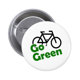 go green bicycle button