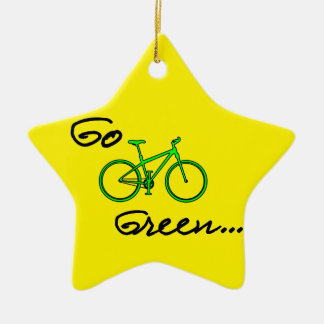 Go Green - Bicycle Christmas Ornament