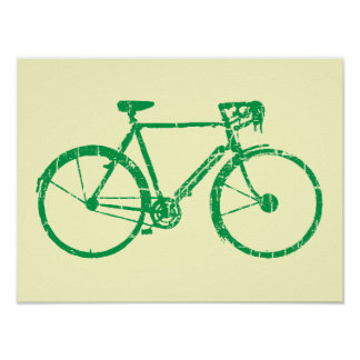 go green bicycle poster