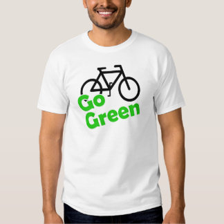 go green bicycle t shirt