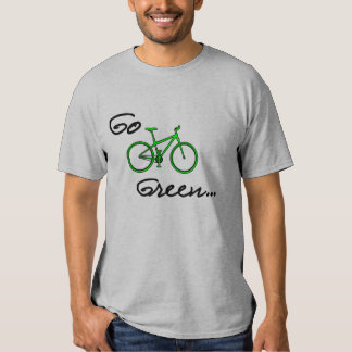 Go Green - Bicycle T Shirt