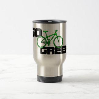 Go Green - Bicycle Travel Mug