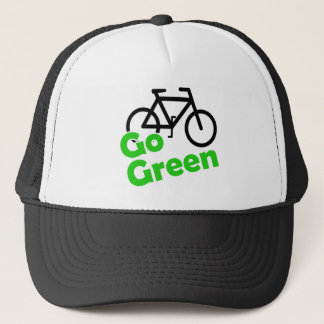 go green bicycle trucker hat