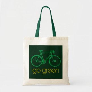 go green biking attitude tote bag