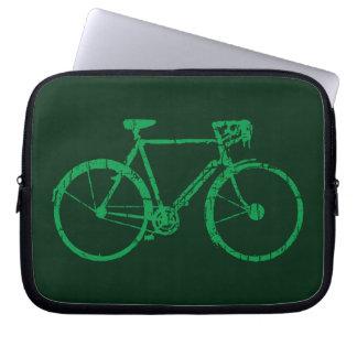 go green biking / cycling laptop sleeve