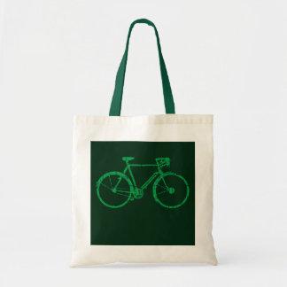 go green biking / cycling tote bag