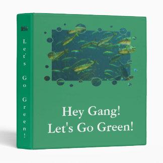 Go Green Binder Golden Fish on Green