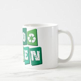 Go Green Blocks Coffee Mug