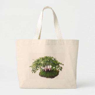 go green bonsai tree designs canvas bags