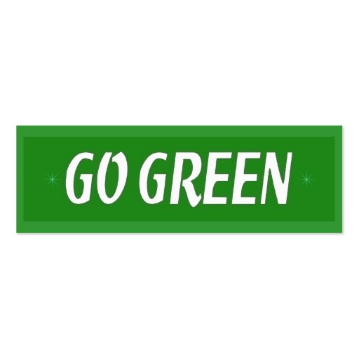 Go green bookmark business card zazzle for Go business cards