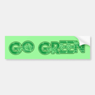 Go green bumper stickers