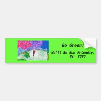 Go Green! bumpersticker Bumper Sticker