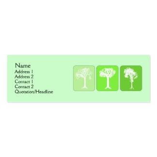 Go Green Double-Sided Mini Business Cards (Pack Of 20)