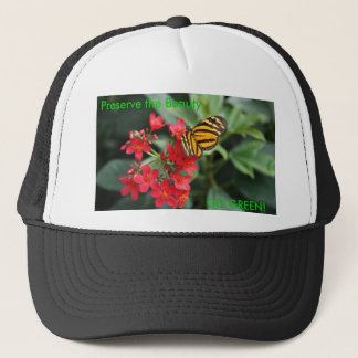 GO GREEN! Butterfly Colors of Spring Trucker Hat