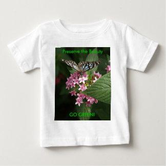 GO GREEN! Butterfly Flower Baby T-Shirt