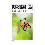 Go Green, Butterfly Stamps