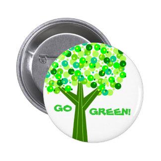 Go Green 2 Inch Round Button