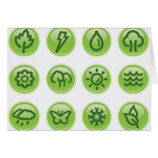 Go Green Buttons Card
