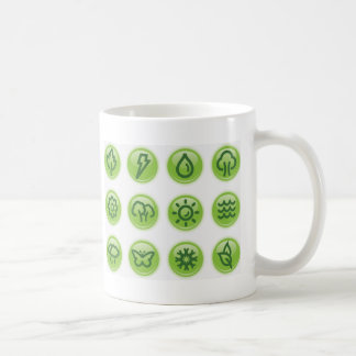 Go Green Buttons Coffee Mugs