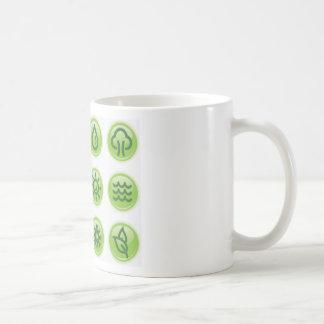 Go Green Buttons Mugs