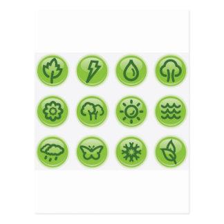 Go Green Buttons Postcard