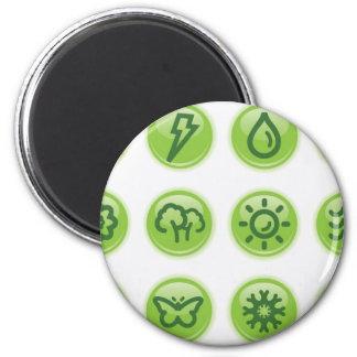 Go Green Buttons Refrigerator Magnet
