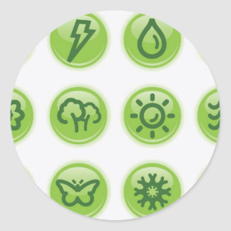 Go Green Buttons Stickers