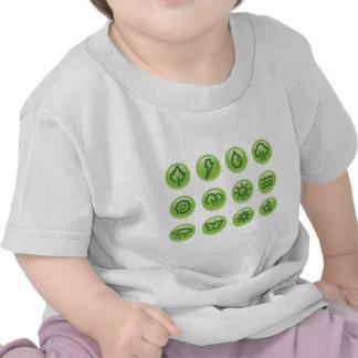 Go Green Buttons T Shirt