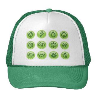 Go Green Buttons Trucker Hat