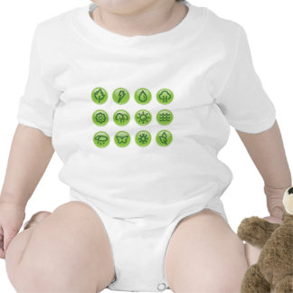 Go Green Buttons Tshirts