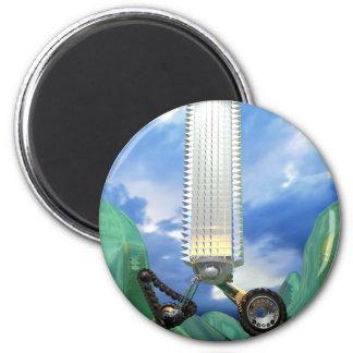 Go Green & Buy Silver Fridge Magnets