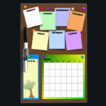 "Go Green Calendar Dry-Erase Board<br><div class=""desc"">Get this fun Go Green Calendar to keep you organized during the week and month. It also has an area just for your Things to Do! This is great for Back to School,  remind yourself of upcoming activities,  clubs,  and tests!</div>"