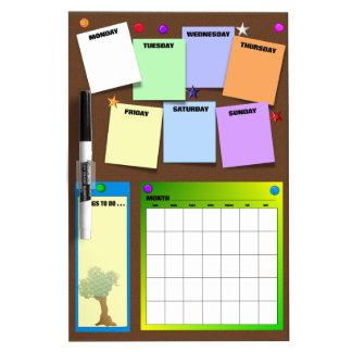 Go Green Calendar Dry-Erase Board