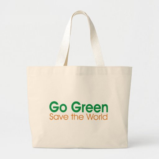 GO Green campaign Jumbo Tote Bag