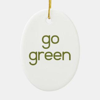 Go Green Ceramic Ornament