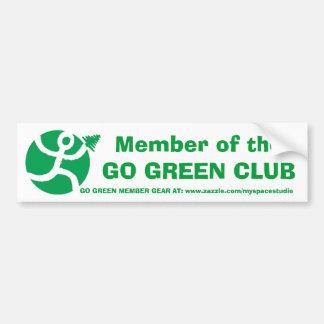 Go Green Club Member Bumper Sticker Car Bumper Sticker
