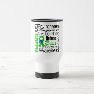 Go Green Collage Travel Mug