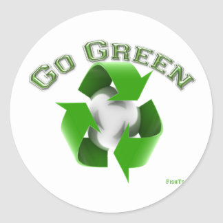 Go Green -Conservation Gear Classic Round Sticker