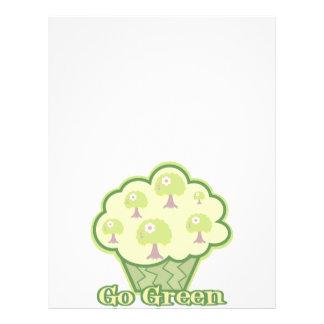 """Go Green Cupcake 8.5"""" X 11"""" Flyer"""