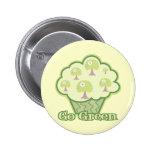 Go Green Cupcake Button