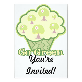 Go Green Cupcake Card