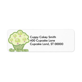 Go Green Cupcake Label