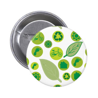 Go Green Customize Product Pinback Button