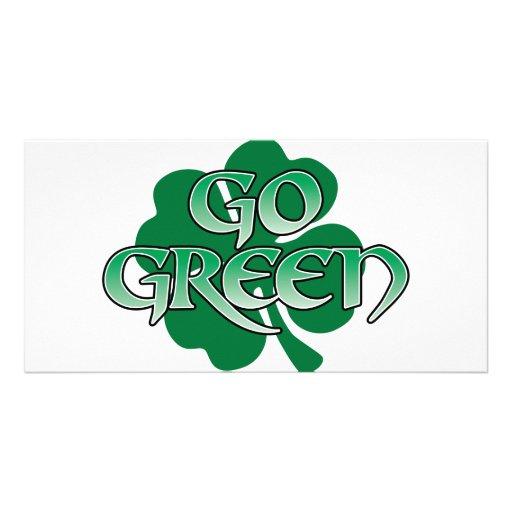 go green customized photo card