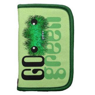 go green cute kawaii monster folio planners