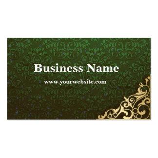 Go Green Damask Business Card