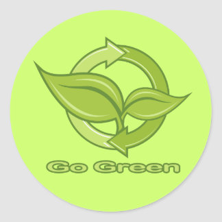 Go Green Decals Classic Round Sticker
