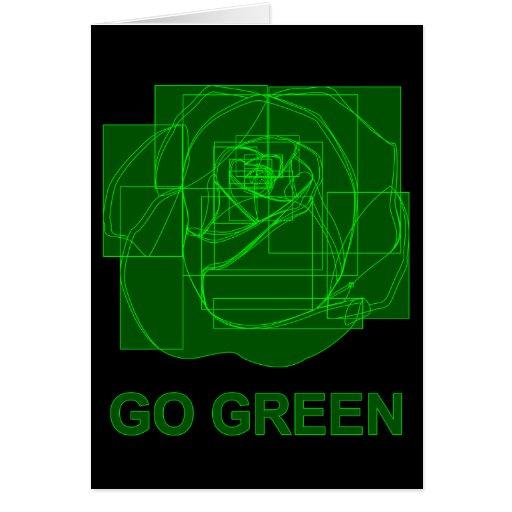 go green : digital flower card
