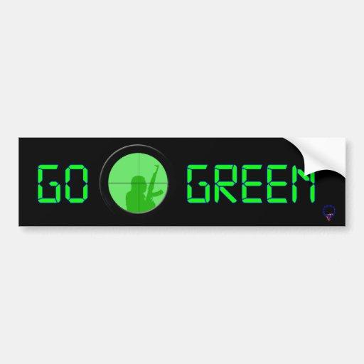 Go Green (digital readout) Bumper Stickers