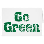 Go Green dis Greeting Cards